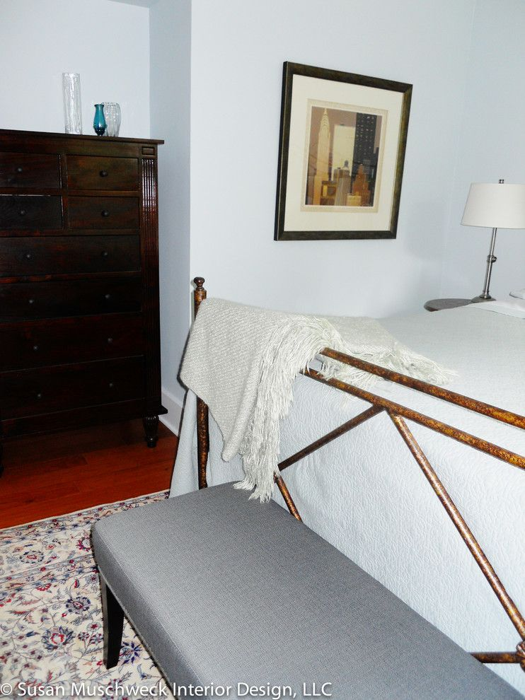 Value City Furniture Louisville for a Traditional Bedroom with a Iron Bed and Squirrel Hill Home by Susan Muschweck Interior Design, Llc