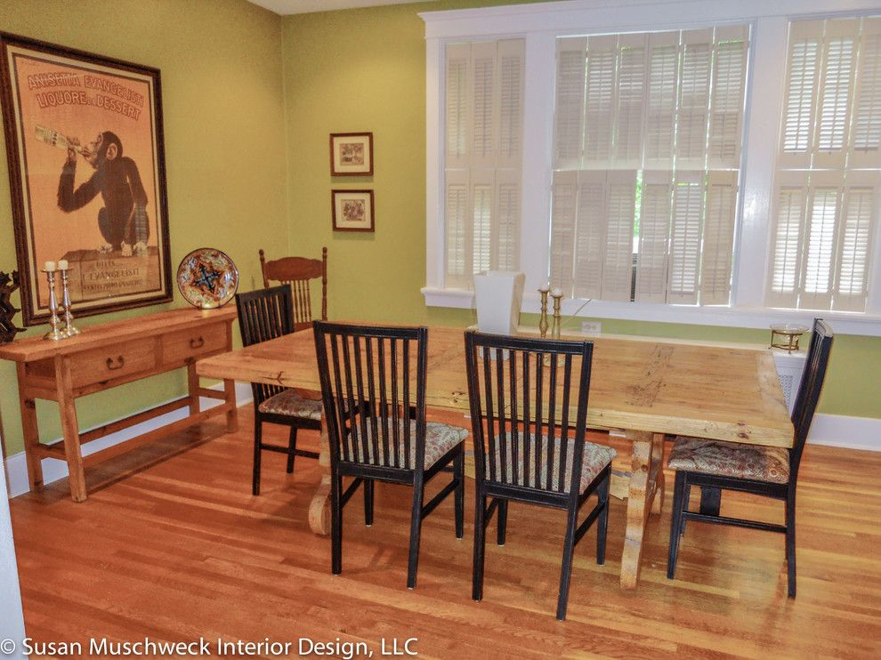 Value City Furniture Louisville for a Traditional Dining Room with a Ladder Back and Squirrel Hill Home by Susan Muschweck Interior Design, Llc