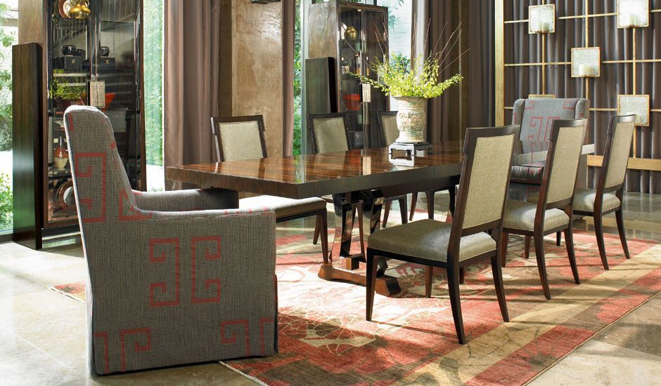 Vanguard Charlotte Nc for a Midcentury Dining Room with a Luxury Home Furnishings by Century and Century Furniture