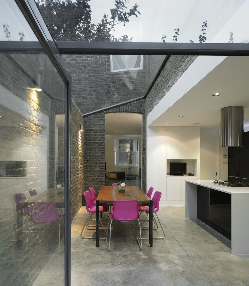 Vantage Lighting for a Contemporary Kitchen with a Glass Roof and Mapledene Road by Platform 5 Architects
