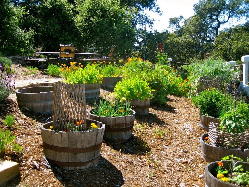 Vegetable Garden Planner for a Rustic Landscape with a Mulch and Varian Ranch Estate by Landsystems & Associates