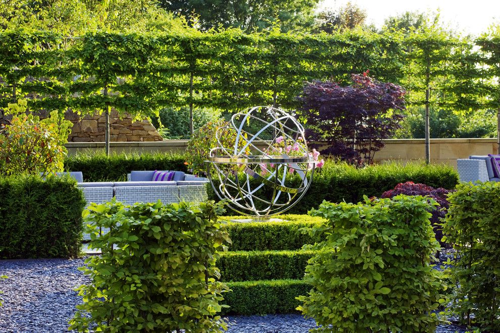 Vegetable Garden Planner for a Traditional Landscape with a Armillary and Armillary Sphere by David Harber
