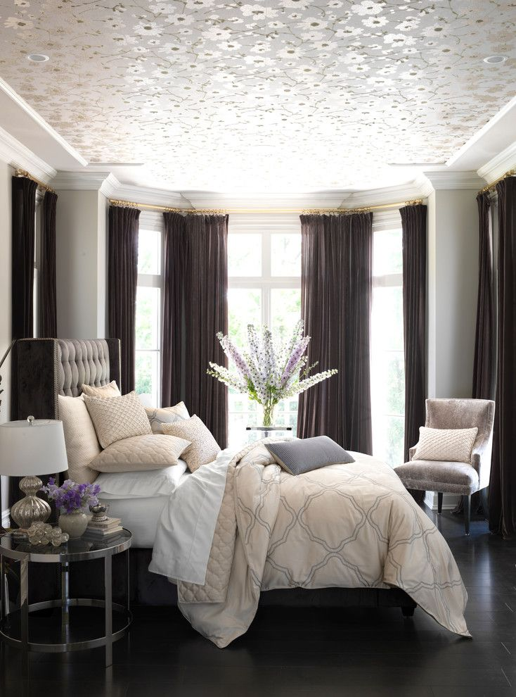 Velvet Rope Portland for a Contemporary Bedroom with a Contemporary and Hudson Park Verraine Bedding Collection by Bloomingdale's