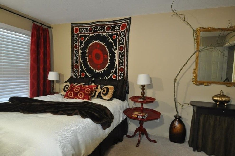 Velvet Rope Portland For A Eclectic Bedroom With A White And Master Bedroom Makeover By Black