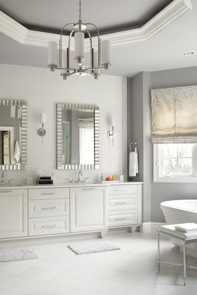 Venetian Nj for a Traditional Bathroom with a Sharon Sherman and Shades of Gray Master Bath by Thyme & Place Design Llc