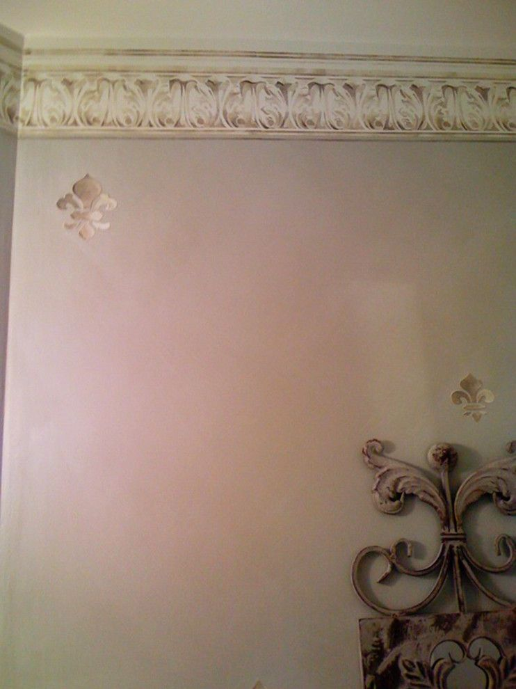 Venetian Nj for a Traditional Bathroom with a Venetian Plaster for a Bathroom and Faux Finishes in Powder Rooms in Nj by Sg Decorative Painting and Murals