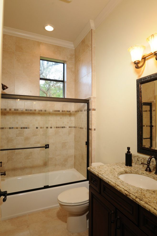 Venetian Theater for a Mediterranean Bathroom with a Bronze and Henin Signature Homes Valentina by Henin Homes