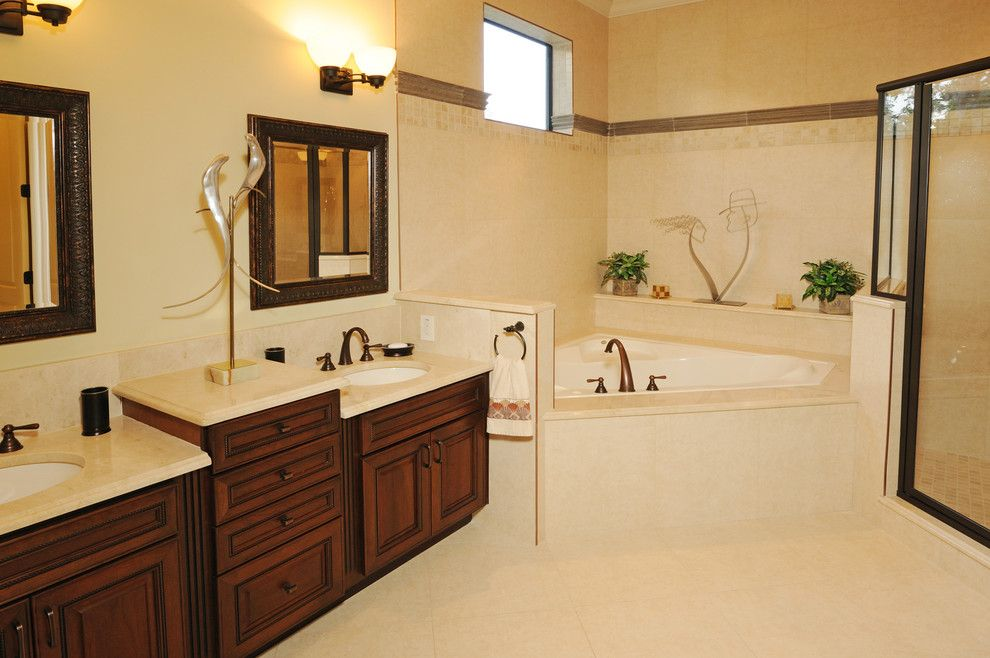 Venetian Theater for a Mediterranean Bathroom with a Theater Room and Henin Signature Homes Valentina by Henin Homes