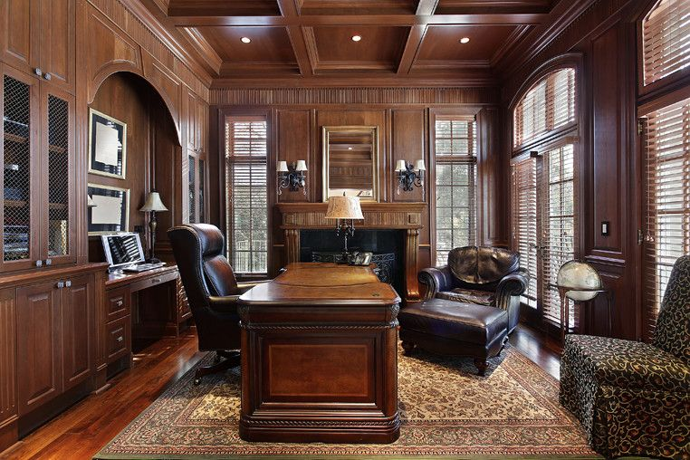 Veritas Houston for a Traditional Home Office with a Traditional and Living Areas by Veritas Custom Homebuilder, Inc.