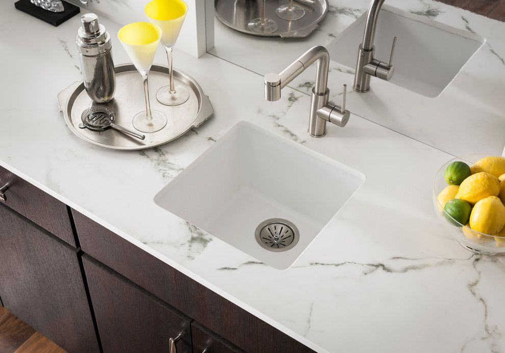 Verona Walk for a Contemporary Spaces with a Contemporary and Elkay Sinks and Faucets by Elkay Sinks and Faucets