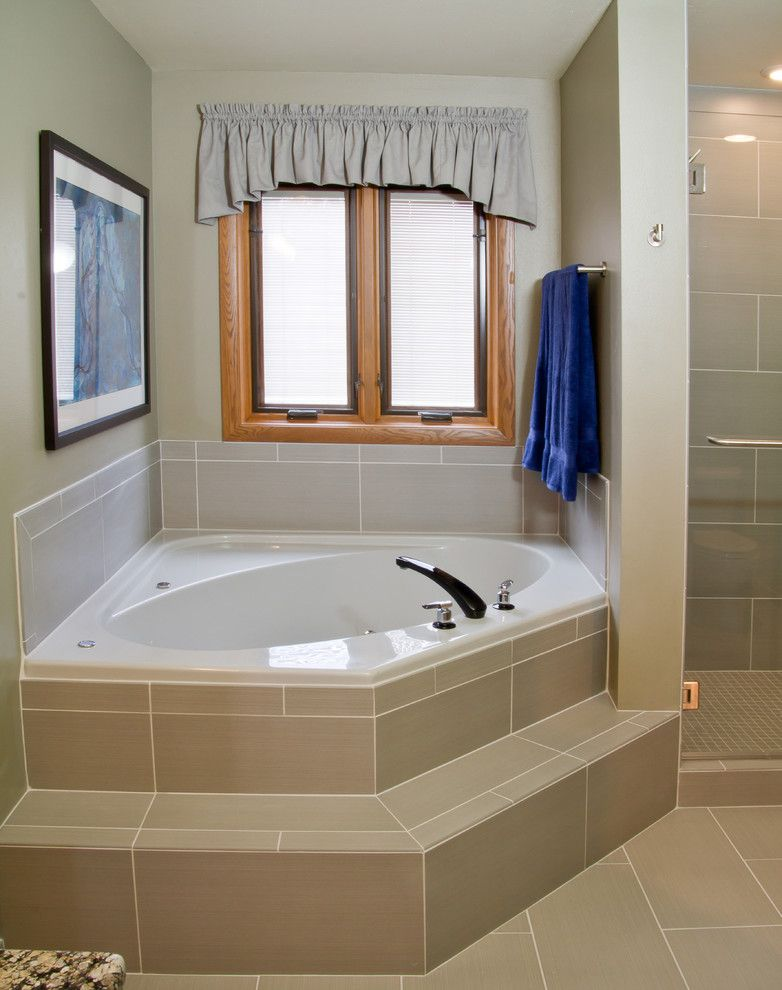 Verona Walk for a Transitional Bathroom with a Glass Panel Shower Door and Bathroom Remodel in Verona, Wi by Dc Interiors & Renovations