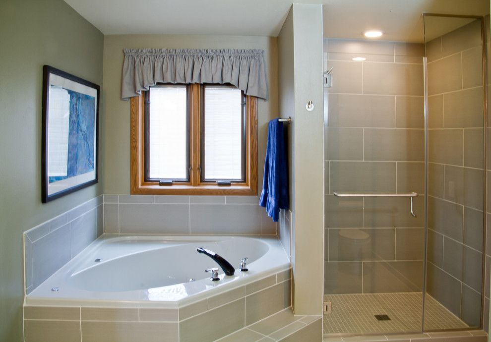 Verona Walk for a Transitional Bathroom with a Master Bathroom Design and Bathroom Remodel in Verona, Wi by Dc Interiors & Renovations