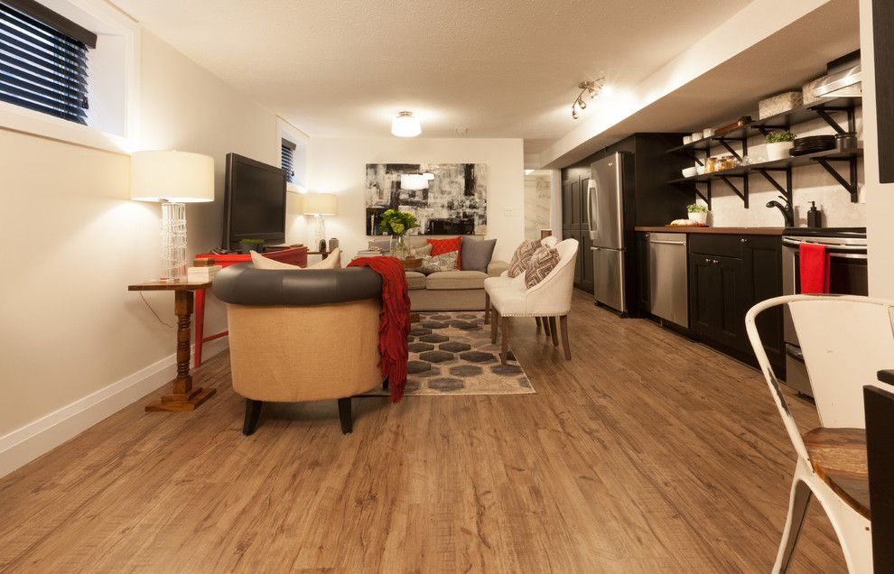 Versalock for a Transitional Living Room with a Durable and Living Room by Shaw Floors