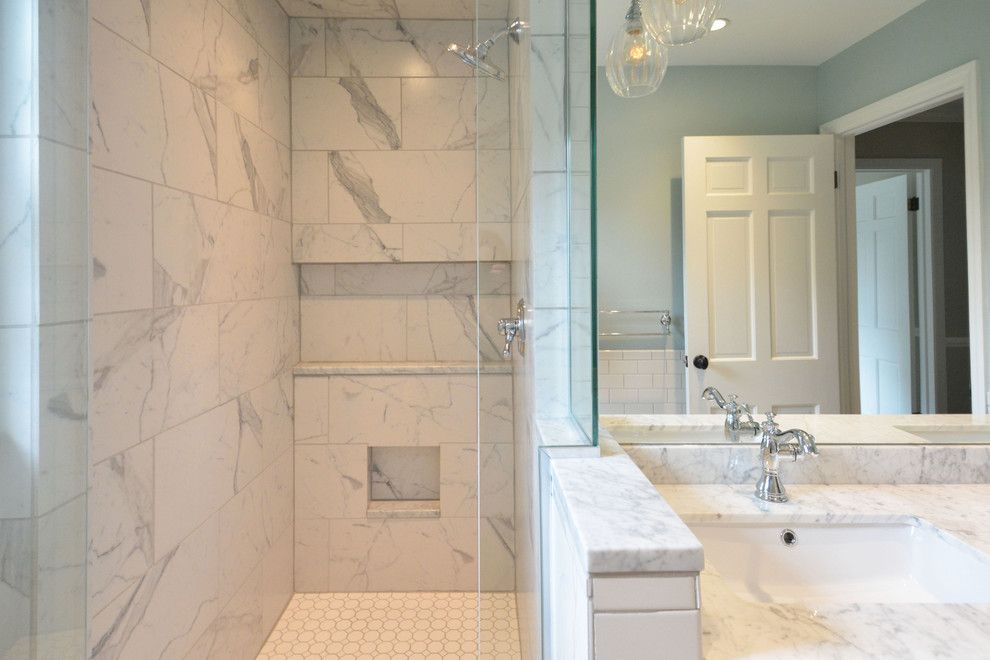 Versatex for a Traditional Bathroom with a Daltile and Versatile and Classic by Susan Yeley Interiors