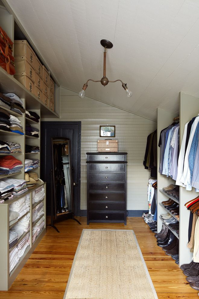 Victors Lighting for a Farmhouse Closet with a Eclectic Furnishings and Historic House by Tim Cuppett Architects