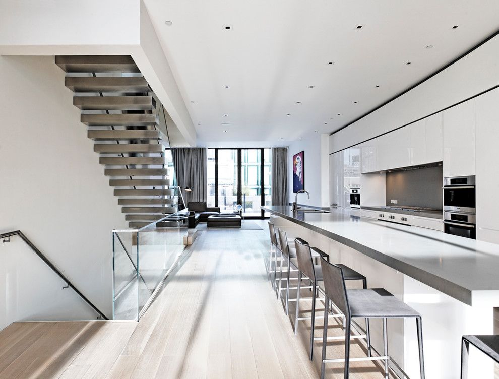 Victors Lighting for a Modern Kitchen with a Open Concept and Bond Street Project by Cnr Group Inc.