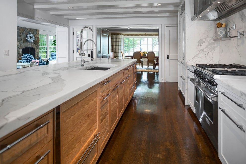 Vigo Industries for a Modern Kitchen with a Stainless Steel Sink and Water View Darien, Ct by Vicente Burin Architects