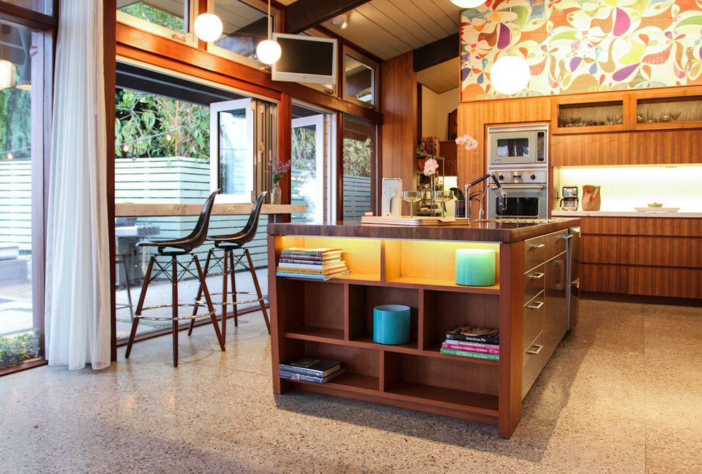 Viking Fence for a Midcentury Kitchen with a Midcentury and Midcentury Riviera by Native Son Design Studio