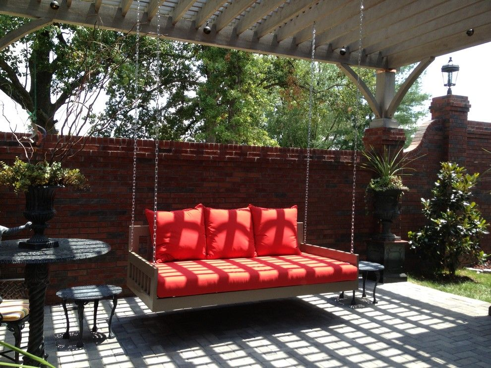 Viking Fence for a Traditional Patio with a Outdoor Fireplace and Chappel Paducah Kentucky by My Outdoor Rooms