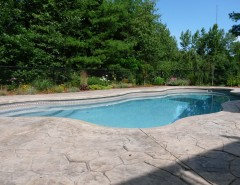 Viking Pools for a Traditional Pool with a Traditional and Viking Fiberglass Pools - Cancun by Cherry Hill Pool & Spa