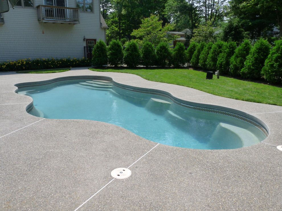 Viking Pools for a Traditional Pool with a Traditional and Viking Fiberglass Pools   Cancun by Cherry Hill Pool & Spa