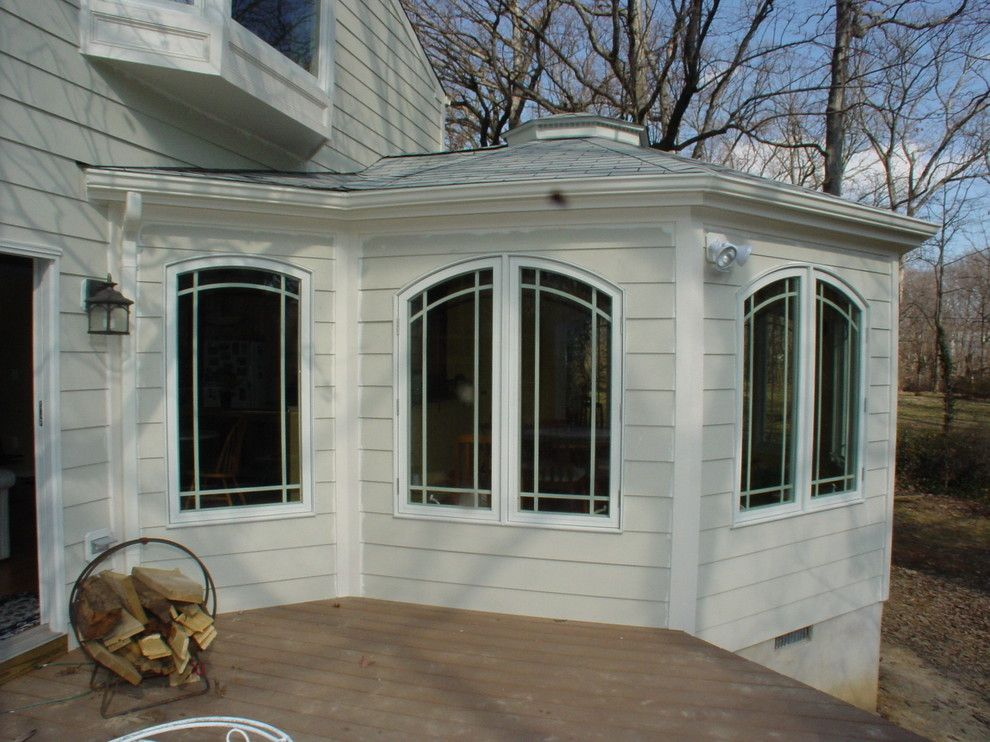 Virginia Cook Realtors for a Traditional Exterior with a Custom Grill Windows and Cook Bros. of Arlington, Va.    Rear Additions by Cook Bros Design Build Remodeling