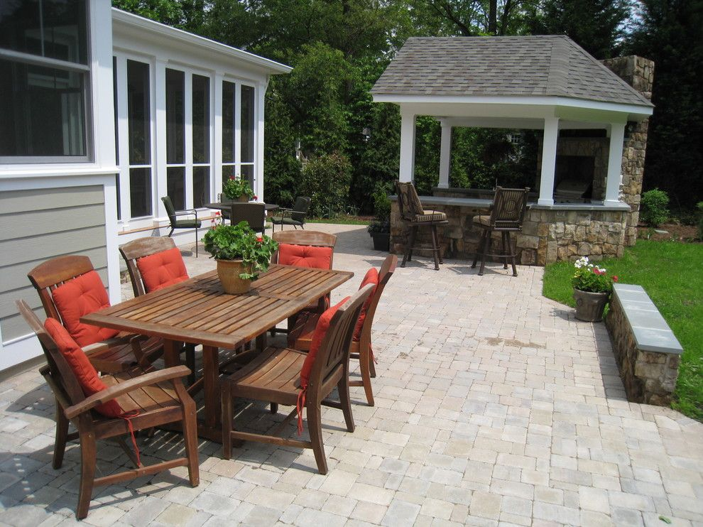 Virginia Cook Realtors for a Traditional Patio with a Paver Patio Design and Outdoor Entertaining by O'grady's Landscape