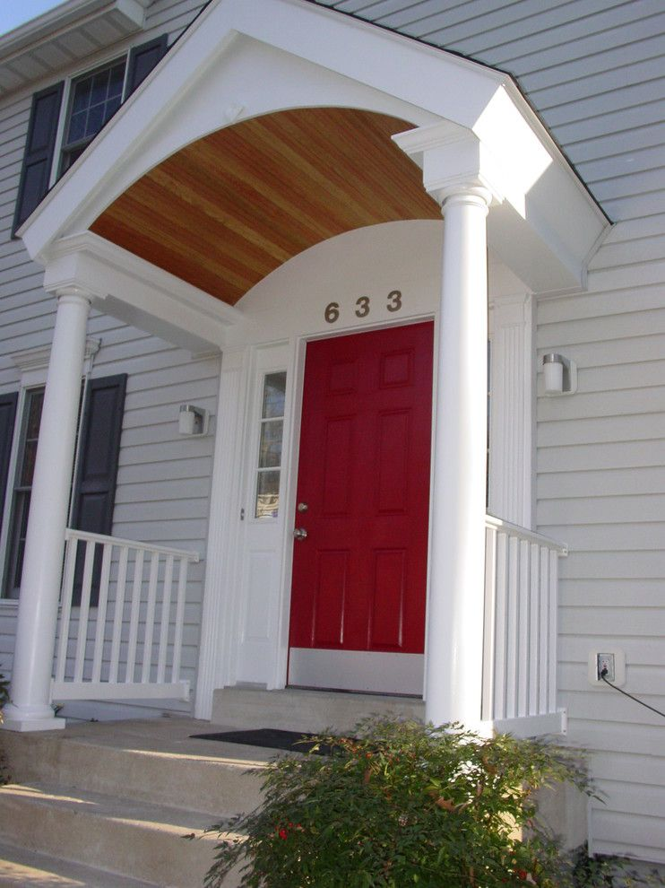 Virginia Cook Realtors for a Traditional Porch with a Round Columns and Cook Bros. of Arlington, Va.    Entries, Porches and Porticos by Cook Bros Design Build Remodeling