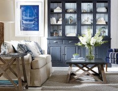 Vitreous China for a Contemporary Living Room with a Contemporary and Ethan Allen by Ethan Allen