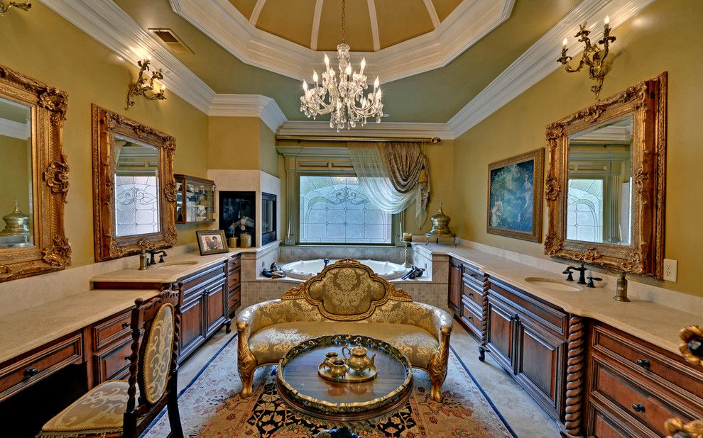 Wade Hampton Golf Club for a Eclectic Bathroom with a the River Club and the River Club Custom Homes by Envision Web