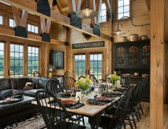 Wade Jurney Homes for a Rustic Dining Room with a Quality and Log Homes & Cabins - Coventry Log Homes - the Bear Rock by Coventry Log Homes