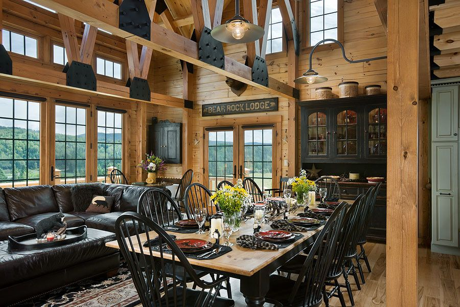 Wade Jurney Homes for a Rustic Dining Room with a Quality and Log Homes & Cabins   Coventry Log Homes   the Bear Rock by Coventry Log Homes