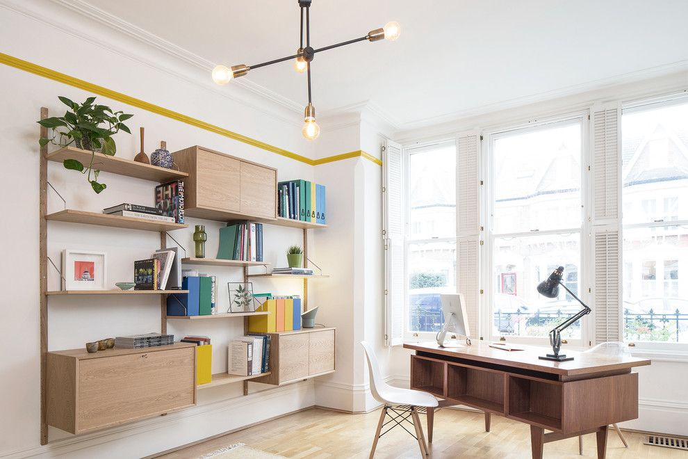 Wade Jurney Homes for a Scandinavian Home Office with a Home Office Storage and Elmwood Road by Yam Studios