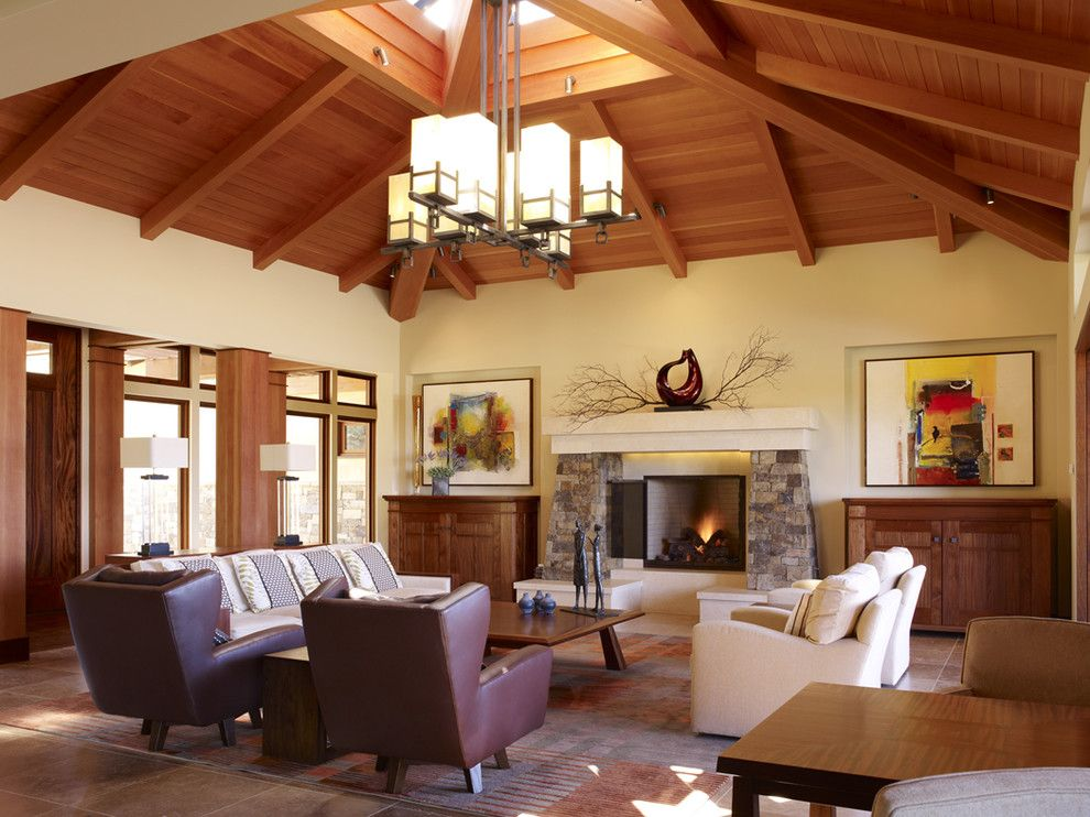 Wallbuilders for a Craftsman Living Room with a New Construction and Los Gatos Northwestern Contemporary Custom Home by Conrado   Home Builders