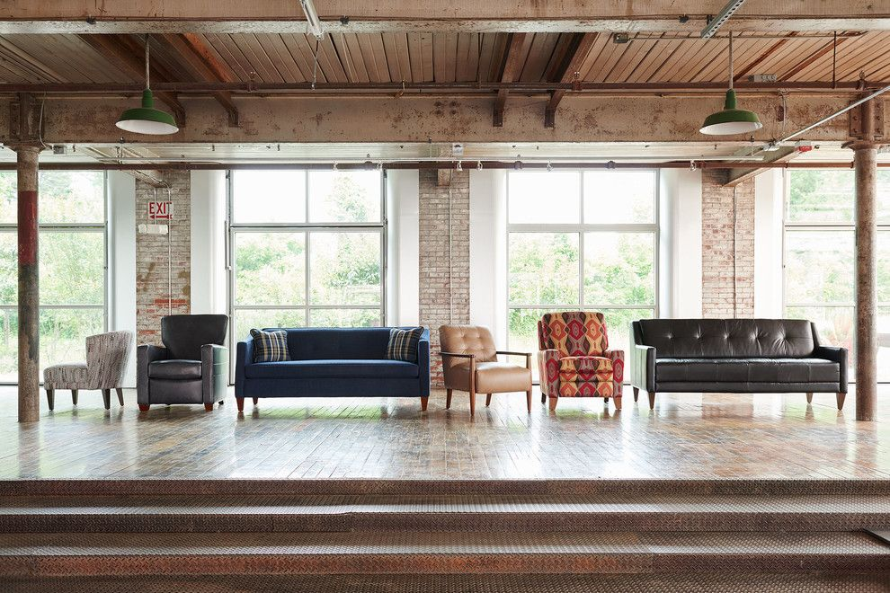 Waller Rustic Furniture for a Industrial Spaces with a Pendant Lights and La-Z-Boy by La-Z-Boy
