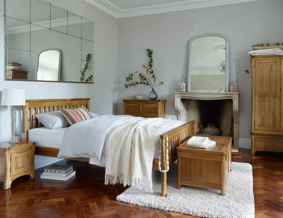 Waller Rustic Furniture for a Rustic Bedroom with a Herringbone Pattern and Orrick Rustic Oak Bedroom by Oak Furniture Land