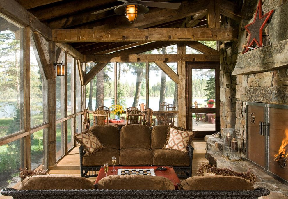 Waller Rustic Furniture for a Rustic Porch with a Patio Furniture and Heritage Cabin by Rmt Architects