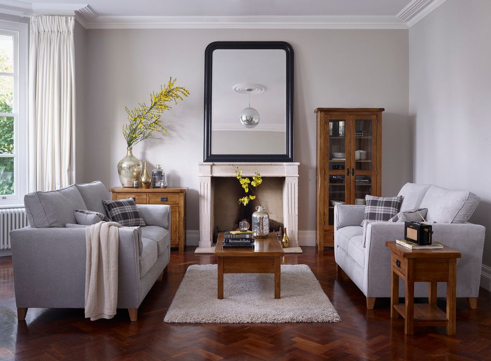 Waller Rustic Furniture for a Traditional Living Room with a Plaid Pillows and Original Rustic Living Room by Oak Furniture Land