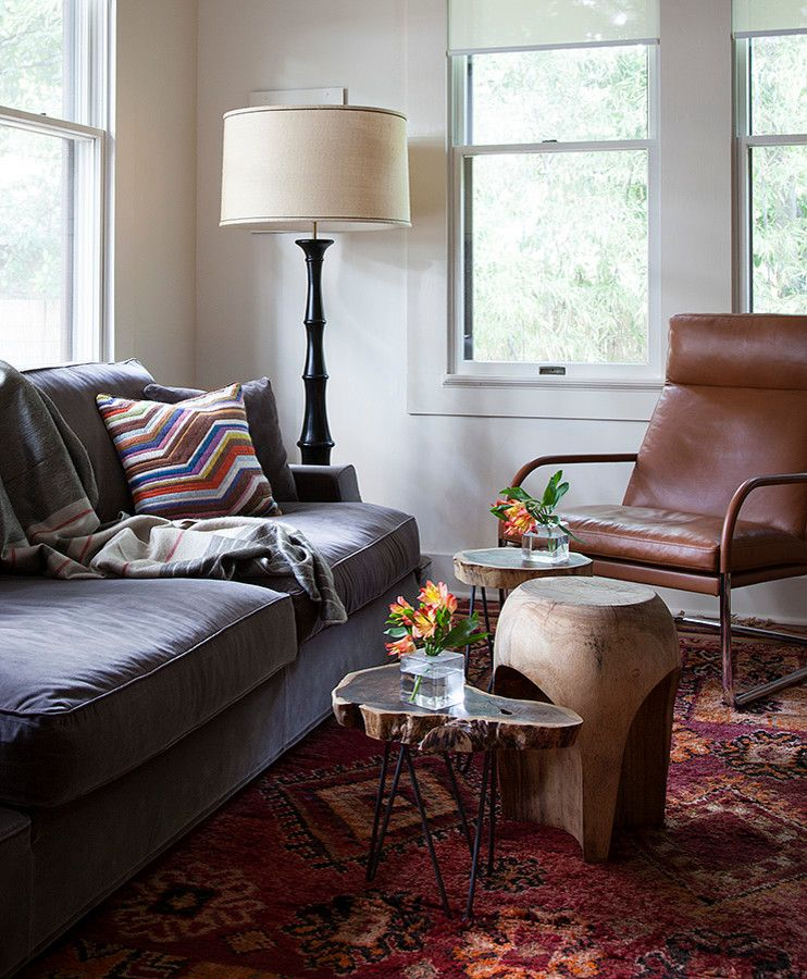 Walter Knoll for a Craftsman Family Room with a Craftsman and Avenue H by Cravotta Interiors