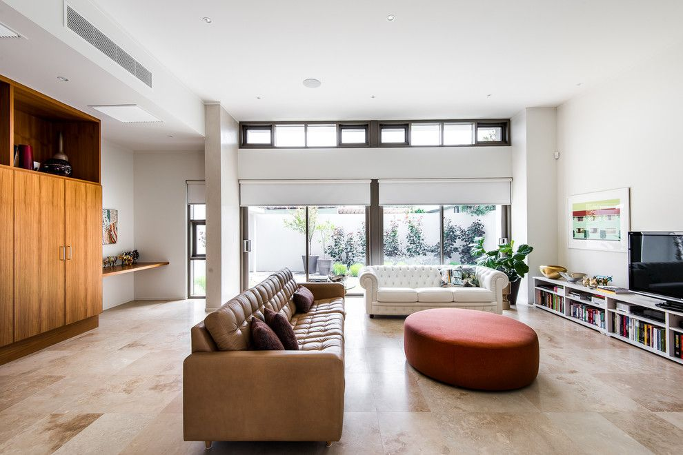 Walter Knoll for a Midcentury Living Room with a Walter Knoll and House a by Sandy Anghie Design