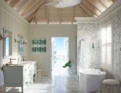 Wardley Real Estate for a Contemporary Bathroom with a White Floor Tile and Kohler by Kohler