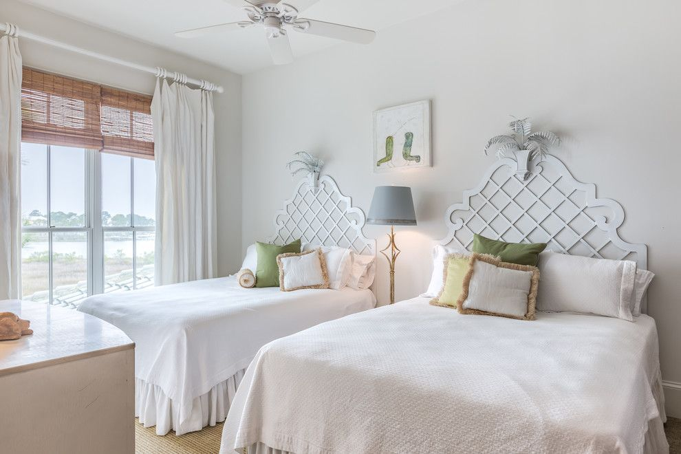 Wardley Real Estate for a Tropical Bedroom with a Woven Window Shades and Ono Harbor Home, Orange Beach, Al by Erin E. Kaiser, Kaiser Real Estate Sales, Inc