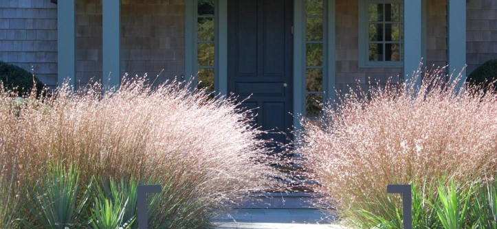 Warm Season Grasses for a Contemporary Landscape with a Bluestone and Plantings by Davis Landscape Design LLC