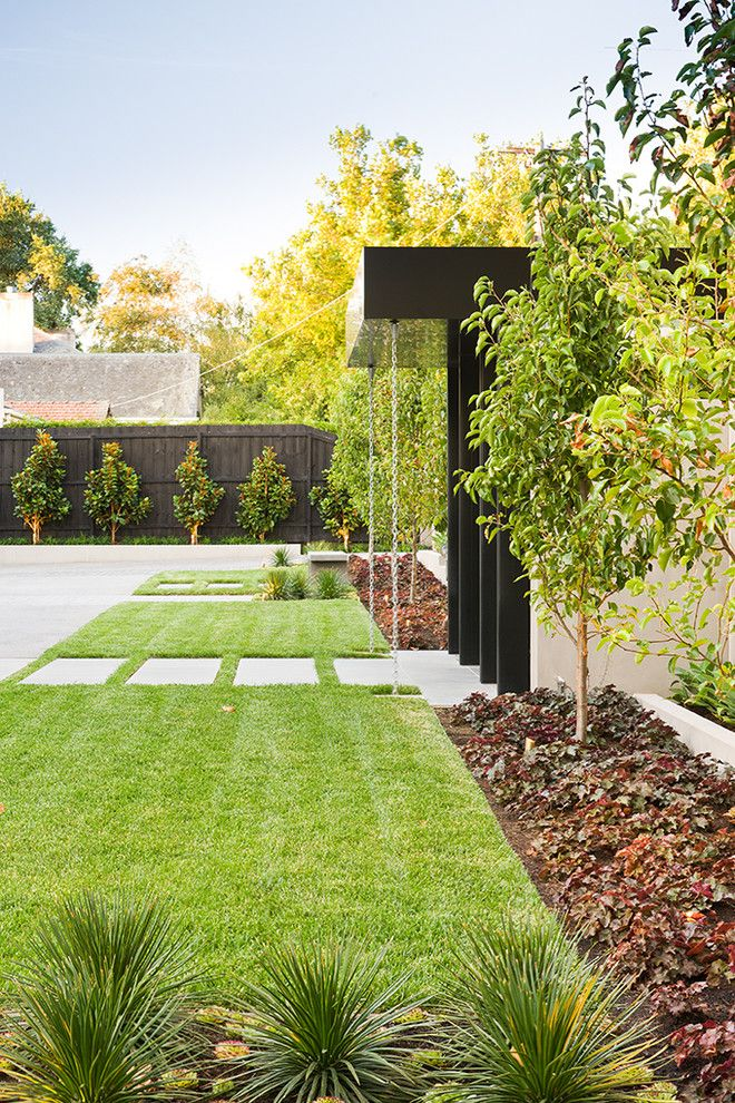 Warm Season Grasses for a Contemporary Landscape with a Contemporary and Radnor Street by C.o.s Design