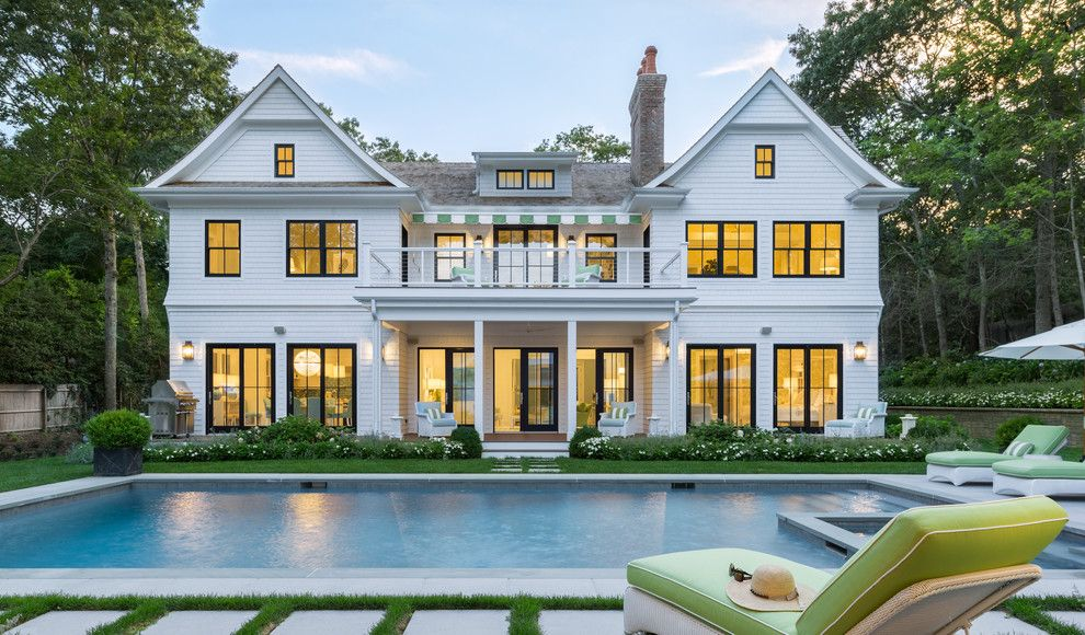 Warm Season Grasses for a Traditional Exterior with a Dormer Window and Coastal Living Hamptons Showhouse by Marvin Windows and Doors