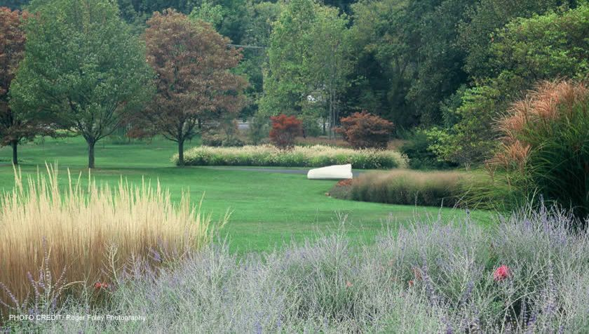 Warm Season Grasses for a Traditional Landscape with a Landscape Architecture and Clinton & Associates | Landscape Architects in Washington Dc, Maryland, and Virg by Clinton & Associates, Pc Landscape Architects