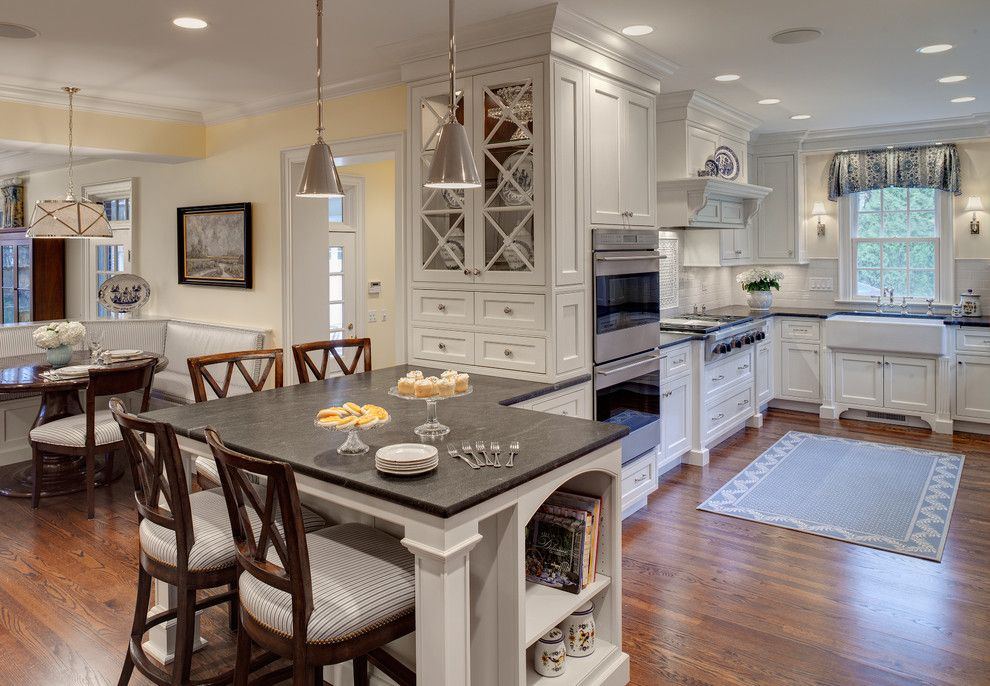 Washington Dc Points of Interest for a Traditional Kitchen with a Chicago Kitchen Design and Multi Room Kitchen Remodel by Drury Design