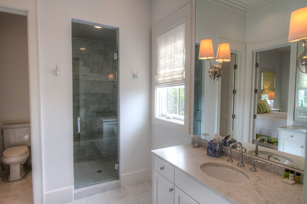 Watercolor Fl for a Beach Style Bathroom with a Beach Ecclectic and 22 Flatwood St, Watercolor, Fl by Borges Brooks Builders