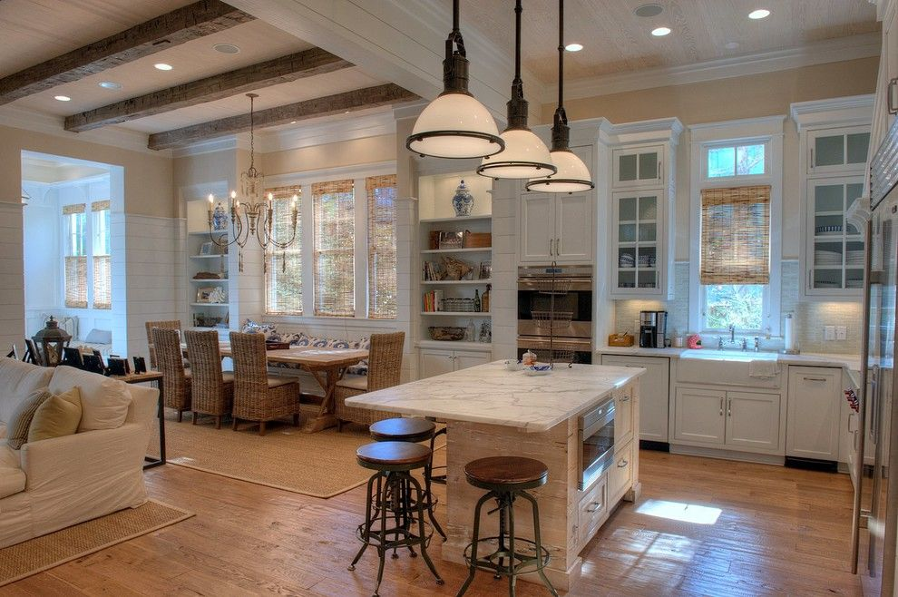 Watercolors Florida for a Beach Style Kitchen with a Pecky Cypress and a Residence in Watercolor, Florida 2 by Christ & Associates, Architects & Planners