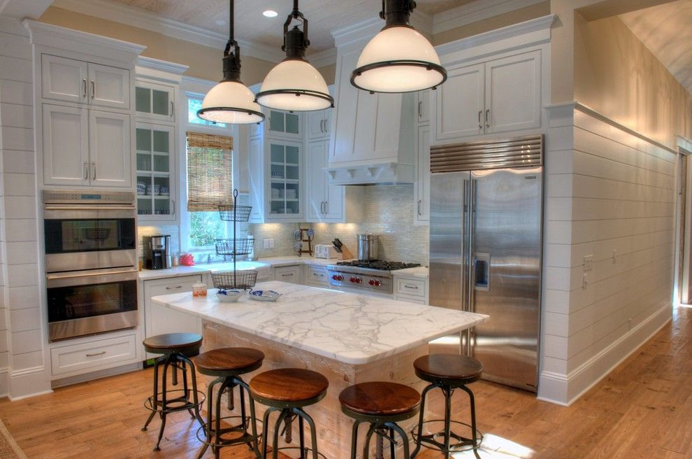 Watercolors Florida for a Beach Style Kitchen with a Shiplap and a Residence in Watercolor, Florida 2 by Christ & Associates, Architects & Planners